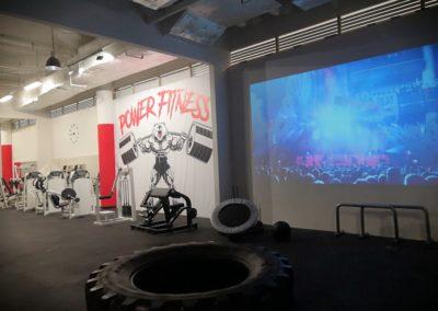 Power fitness plátno